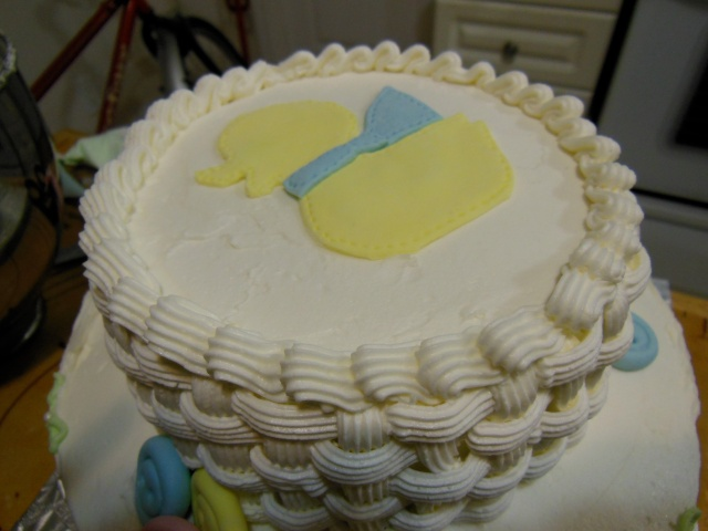 2-tier ducky cake top