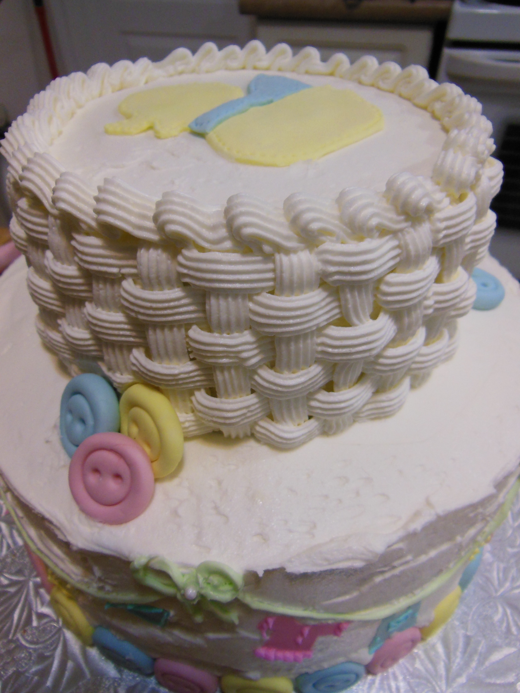 Two Tier Ducky Baby Shower Cake
