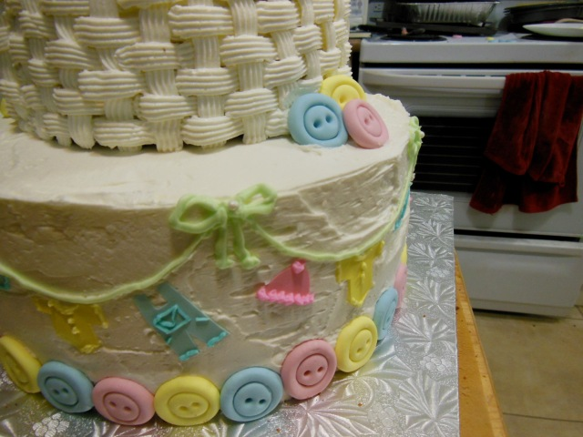 2-tier ducky cake side